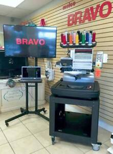 Melco Bravo C 16 Needle Commercial Embroidery Machine With Free Laptop Financing