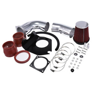 Red 3 5 Cold Air Intake Kit Filter For Ford 94 95 Mustang Gt Gts 5 0l V8 Coupe