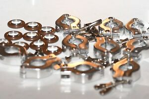 Lot Of 10 Nw kf 16 Clamps With 10 Centering O rings Vacuum