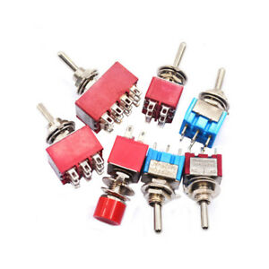 3 6 9 12pin 6mm Mini Toggle Switch Home latchin momentary Mts 102 202 302 402