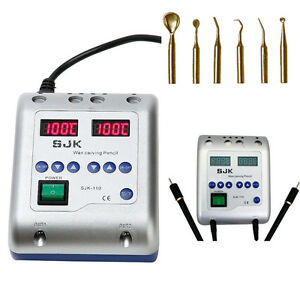 Dental Laboratory Electric Waxer Carving Pen Pencil Carver 6 Tips Lab Tool Us