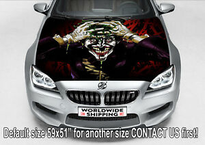 H3855 Joker Funny Laminate Hood Car Truck Decal Sticker Bumper Halloween Graphic