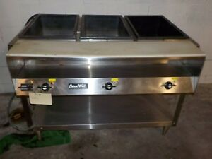 Vollrath Servewell 3 bay Electric Steam Table