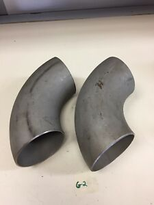 App Lr 4 Sch 10s90 Steel Elbow A 403wp304 304 Lw Lot Of 2 Fast Shipping