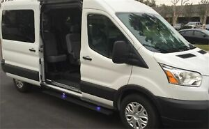 Amp Research Powerstep Running Boards 2014 18 Ford Transit Driver