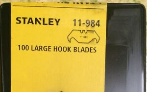 Stanley 100 Piece Pack 11 984 Large Hook Cutting Utility Blades 11 983