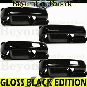 2017 2018 Ford F250 4dr Crew Cab Gloss Black Door Handle Covers W Smartkey Bowls