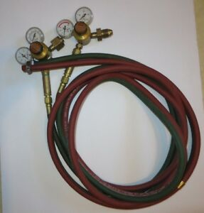 Oxygen Acetylene propane Regulators With Arrestor And 12 Ft Welding Hose