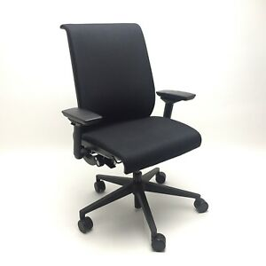 Think Steelcase Office Chair With Adjustable Lumbar Black Fabric 2014