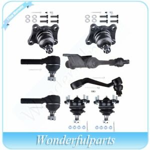 For Toyota Truck 4wd 1986 1995 Front Ball Joint Tie Rod Idler Pitman Arm 8pc Kit