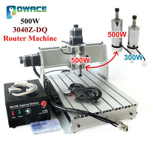 3040z dq 500w 3 Axis Desktop Cnc Router Engraving Machine Ballscrew Kit 220 110v