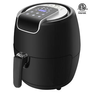 Air Fryer Hot Frying Non stick Rapid Cooking Presets W Touch Screen Black
