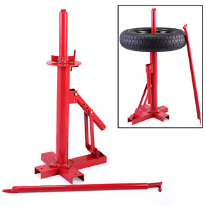Red Manual Portable Hand Tire Changer Bead Breaker Tool Mounting Home Shop Auto