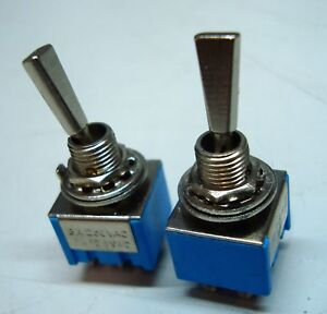 Toggle Switch Wide Chrome Baton Mini Dpdt Various Options
