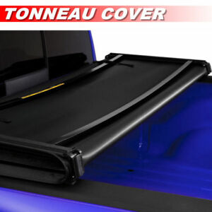 8ft 96in Bed Soft Tri Fold Lock Tonneau Cover For 2009 2018 Ford F150 F 150