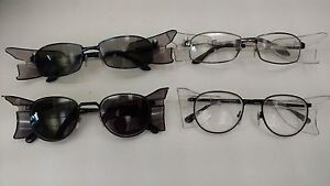 A O Safety Glasses frames Rxable Lot Of 4 With Sideshields