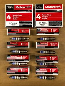 Set Of 8 Genuine Ford Motorcraft Copper Spark Plugs Sp 450a Asf42ca Free Ship