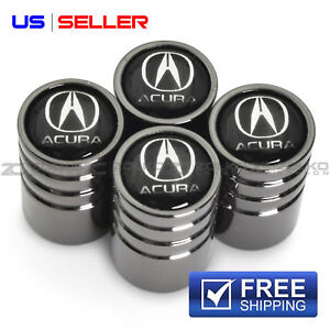 Valve Stem Caps Wheel Tire Black For Acura Ve28 Us Seller