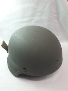 USED MSA US Military Army Issued ACH Combat Helmet Large OD Green See Descript.