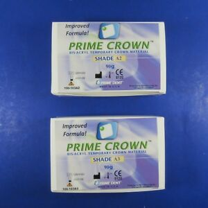 Dental Temporary Crown Kit 2 Shade A2 A3 Prime Dent Improved Formula