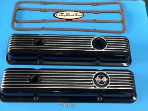 69 74 Camaro Z28 Lt1 69 82 Corvette New Black Aluminum Valve Cover Covers