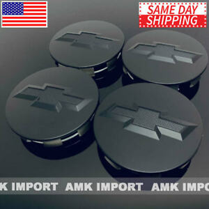 4pc Set Black 20 22 Wheel Center Caps Chevy Silverado Suburban Tahoe 83mm 3 25