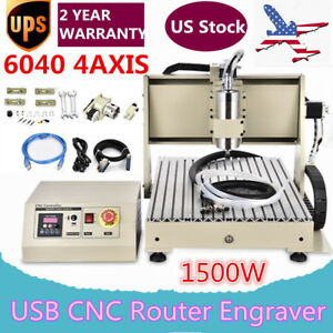 4 Axis Usb Cnc6040t Router Engraver Engraving Milling Drilling Machine 3d Cutter