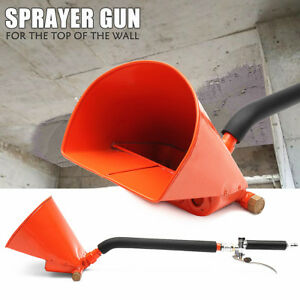 Cement Mortar Concrete Air Stucco Sprayer Hopper Wall Plastering Paint Gun 4 Jet