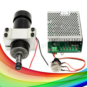 500w Spindle Motor Cnc Air Cooled Milling Spindle Speed Power Converter 110v