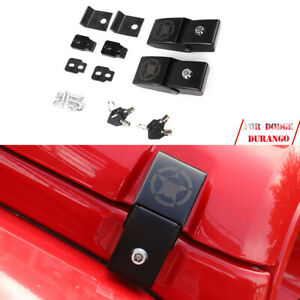 Black Metal Hood Lock Latch Bracket Buckle Kit For Wrangler Jk Unlimited 07 17