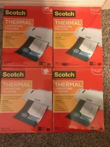 Scotch Thermal Laminating Pouches 8 5 x11 50 Count 4 Pack