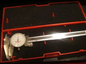 Starrett 6 Dial Caliper In Case Excellent Cond Must Look