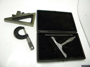 Machinist Micrometers And Planer Shaper Knife Gauge Brown And Sharpe