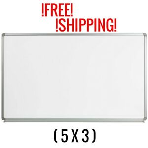 Whiteboard Magnetic 5x3 Marker Tray Dry Erase Office School Business Large Wall