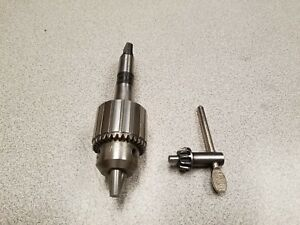 Jacobs 2ba Drill Chuck 0 3 8 With 2 Morse Taper Arbor Key