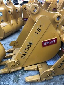 New 18 Cat Emaq Mini Excavator Bucket Caterpillar 304 Teeth