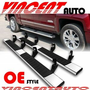 Fit 07 18 Chevy Silverado Gmc Sierra Crew Cab 6 Side Step Running Board Bar S S