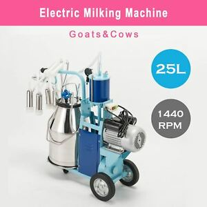 25l Electric Milking Milker Machine For Goats Cows 0 04 0 05mpa Adjustable