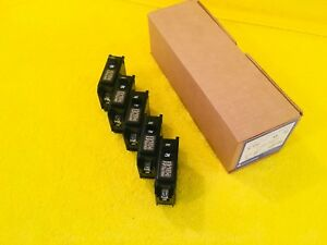 lot Of 5 new Challenger C120 20 Amp 1 pole Plug In Circuit Breakers