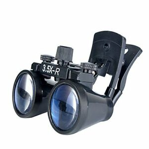 3 5x r Dental Binocular Loupes Surgical Glasses Magnifier Clip on Style