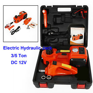 3t 5t 3in 1 Auto Electric Hydraulic Floor Jack Lift Pump With Impact Wrench Set