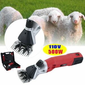 500w Electric Sheep Shears Goat Clipper Animal Shave Grooming Farm Supplies Dr