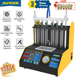Autool Ct200 Ultrasonic Fuel Injector Cleaner Tester Machine 110v Fit Car Motor