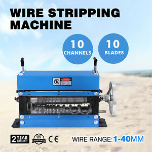 Portable Powered Electric Wire Stripping Machine Metal Recycle 1 40mm 1 4hp