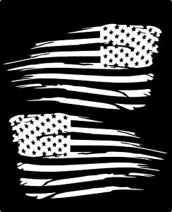 2 American Flag Distressed Military Usa Decal Sticker Jeep Chevy Ford Toyota