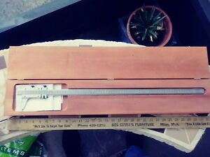 Starrett No 123m Vernier Caliper W Case 650mm