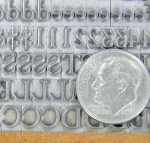 Alphabets Metal Letterpress Print Type 18pt Cochin Open Ml15 3