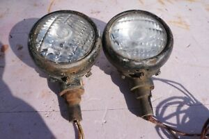 Vintage Guide Tractor Lamps Circa Unk Pair