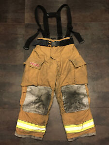 Pants Firefighter Turnout Bunker Fire Gear W Liner Complete Size 34x30