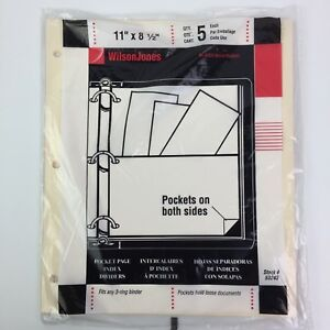 Lot Of 8 5 pack Wilson Jones Letter Size Manila Pocket Pages Binder Organizers